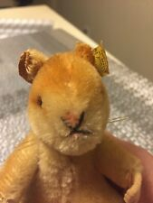 "Vintage Steiff ""Goldy"" Hamster - Button w/tag- #2150/10 *Mohair*"