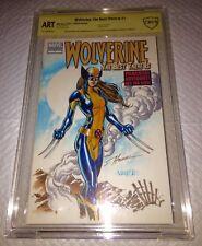 Wolverine #1 Blank Cover Original Art CBCS 9.8 SS O/A X23 Sketch Hanna & Varese