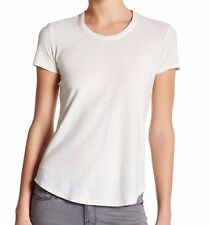 NWT JAMES PERSE Sz1(XS/S) CASUAL SHEER CREW NECK CAP SLEEVE TEE IN SWK