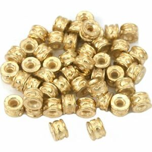Bali Rondelle Spacer Beads Gold Plated 5mm 15 Grams