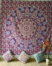 Wall Hanging Big Flower  Beautiful Design Cotton Handmade Ethnic Queen Tapestry