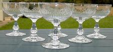 Service de 6 coupes à Champagne  cristal taillé dans le goût de Baccarat