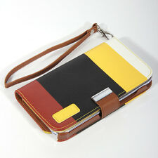 PU Leather Wallet Case Card Holder Case Cover for SAMSUNG GALAXY NOTE 2 + Film