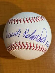 "Frank Robinson ""586 HR"" - Signed Inscribed Rawlings OML Baseball - PSA"