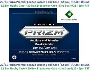 Roberto Firmino 2020/21 Prizm Premier 2 Case Hobby + Breakaway 32 Box BREAK
