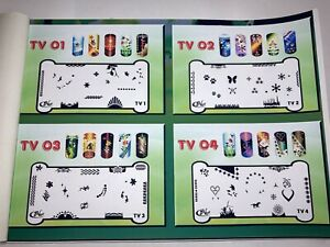 Nail Art Airbrush Stencils for Fun Prints (TV 1-48)