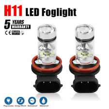 H11 H8 H9 100W LED White Fog Light Conversion Bulbs High Power 6000K Headlight