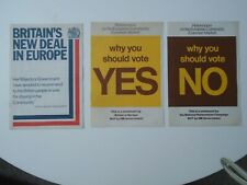 """More details for vintage-1975 political memorabilia- """"britain's new deal in europe"""" & yes or no"""