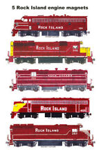 Rock Island Maroon-Era Locomotives 5 magnets Andy Fletcher