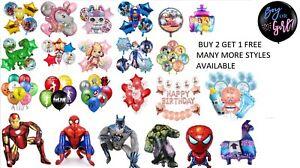 Superhero Cartoon Character Latex/ Foil Helium Balloon Birthday Party Decoration