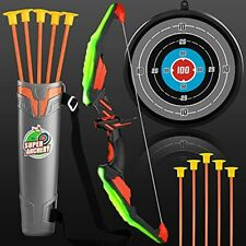 New listing TMEI Bow and Arrow Set for Kids - Archery Toy Set - LED Light Up with 10 Green