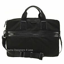 New Michael Kors Men's Large Parker Laptop Briefcase Black Ballistic Nylon