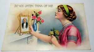 BAMFORTH POSTCARD GREETING SERIES DO YOU OFTEN THINK OF ME ?  1915  899
