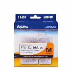 AQUEON FILTER CARTRIDGE MEDIUM 3 Pack FOR QUIET FLOW 10 Power Filter