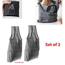 IKEA Foldable Shopping Bag Tote 2-Pk KNALLA Reusable Black/White NEW