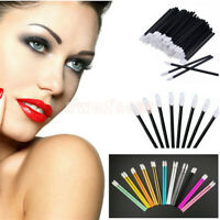 100Pcs Disposable Lip Brush Gloss Lipstick Colorful Wands Applicator Brush Tool
