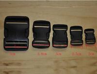 PlasticClasp Side Release Schnalle 0.8 / 1 / 1.2 / 1.5 / 2 Zoll Gurtband schwarz
