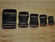 Plastic Clasp Side Release Buckle 0.8/1/1.2/1.5/2Inches Webbing Strap Black