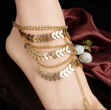 Foot Gold Bracelet Barefoot Chain Jewelry Ankle Sandal Coin Anklet Women Beach