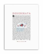 DESIDERATA FLORAL EHRMANN INSPIRATION Poster Typography Quote Canvas art Prints