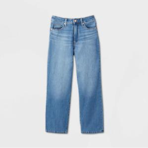 Women's High-Rise Crop Straight Jeans - Universal Thread - Medium Wash 0 - C492
