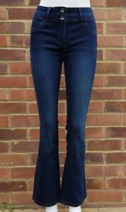Next  Women Lift, Slim And Shape, INDIGO BOOTCUT Jeans With Fake Front Pocket .