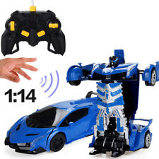Kids RC Toy Remote Control Transforming Car Robot with Gesture Sensor