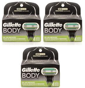 Gillette Body Razor for Men 4 Count, Razors / Blades (3 PK)