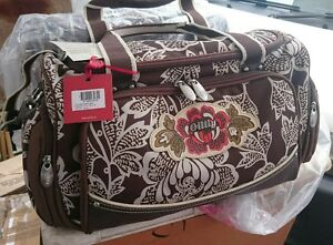 BNWT OILILY CARRY ALL BROWN FLORAL WEEKEND BAG 46 CM X 25 CM X 19 CM