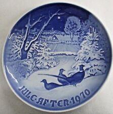 B&G COPENHAGEN PLATE~1970 PHEASANTS IN THE SNOW AT CHRISTMAS~Bing & Grondahl