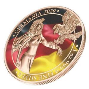 "Germania 2020 5 Mark ""The Flags"" 1 Oz Silver Coin"