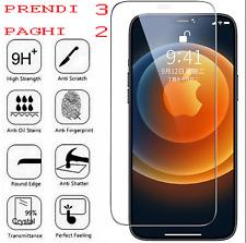 VETRO TEMPERATO IPHONE 12 11 X XS XR MINI PRO MAX SLIM PROTEZIONE TOTALE SCHERMO