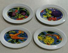 New Listing4 Nantucket Home Oblong Oval Porcelain Mini Plates Vegetable Themed Country