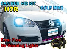 Golf Mk5 V h7r Hid Xenon Kit de conversión Canbus No Error libre 6000k 8000k 10k 43k