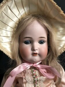 "Antique K R Simon & Halbig 76  29"" Doll Bisque Head Composition Body Real Hair"