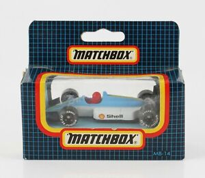 Matchbox MB14 Grand Prix Racing car diecast - blue/white, boxed unopened