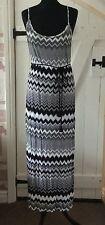 John Lewis maxi dress strappy summer long dress, blue/white size M UK12