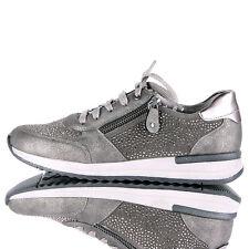 Damen Mode Schuh Sneaker REMONTE Grau- braun Veloursleder EUR 37