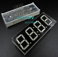 10PCS 0.56 inch 4 digit 7 segment Common cathode + Clock Type Red led display