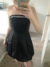 Be Beau Dress Uk8 S Corset Black  Sequin Party Flare Club Cocktail Matalan