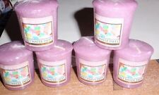 YANKEE CANDLE SALT WATER TAFFY VOTIVE CANDLES  X6 BRAND NEW SEALED