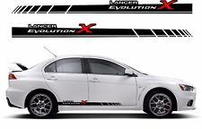 Mitsubishi Evolution Evo lancer 10 Side Stripes decals Set Graphique Autocollants JDM