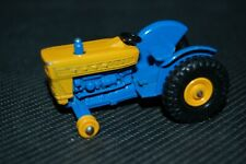 Vintage Matchbox No. 39 Ford Tractor Blue & Yellow