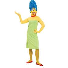 costume marge simpson's vestito carnevale  maschera parrucca tg m adulti