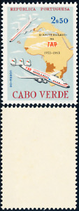 Cabo Verde - 1963 - Airplanes / TAP - Boeing 707 & Lockheed - Map of Africa