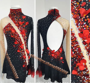Noble Ice Skating Dress /Rhythmic Gymnastics Costume/Dance Twirling Outfit