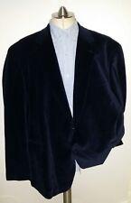 Oak Hill 58R 60R Navy Velvet Velour Paisley Smoking Evening Dinner Blazer Jacket