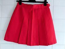 American Apparel Red Gabardine Pleated School Style Mini Skirt Size M BRAND NEW
