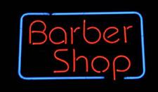 """Barber Shop Open Neon Lamp Sign 17""""x14"""" Bar Light Garage Cave Glass Artwork"""