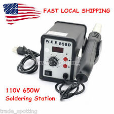 US Stock 858D WEP Hot Air Gun Soldering Station Iron Welding Rework